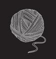 ball of yarn in boho style vector image