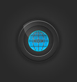 Black button web vector image vector image