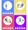 business strategy and process businessmen icons vector image