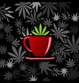 cannabis and marijuana cups vector image vector image