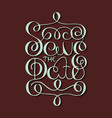 card with hand drawn typography design element vector image vector image