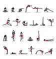 cartoon character woman practicing yoga vector image