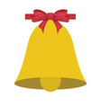 christmas or school bell symbol with bow vector image vector image