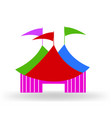 circus tent logo sign vector image