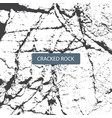 cracked rock vector image