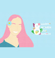 creative invitation card happy women day concepts vector image vector image