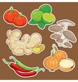 cute cartoon Vegetable set vector image