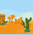 desert landscape cartoon vector image