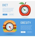 Diet and Obesity Concept vector image