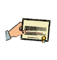 Diploma educational certification vector image