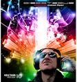 dj poster vector image