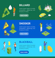 ecology concept banner horizontal set 3d isometric vector image vector image