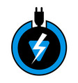 electric charge symbol vector image