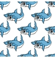 Fierce predatory swimming shark vector image