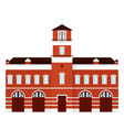 fire station cartoon vector image