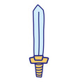 full color videogame sword object to war battle vector image vector image