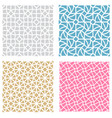 geometric mesh seamless pattern in mosaic style vector image vector image