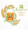 Glass mug of beer vector image vector image