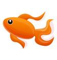 gold fish icon cartoon style vector image