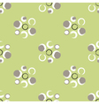Grunge circles on a light green background vector image vector image