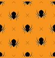 halloween pattern seamless vector image