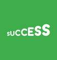 icon concept of growing success word on green vector image