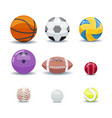 icon set various games balls vector image vector image
