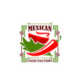jalapeno pepper icon for mexican restaurant vector image vector image