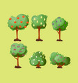 leaves cartoon green tree summer leaf plant vector image vector image