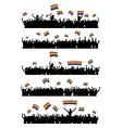 LGBT cheering crowd vector image vector image