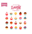 Lovely Cupcake Set vector image vector image