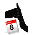 March 8 to Stop Violence Against Women vector image vector image
