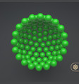 molecular structure with spherical particles vector image vector image