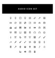music audio icons set with outline design vector image