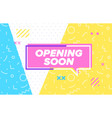 opening soon in design banner template for vector image