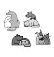 Pets friendship vector image