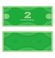 Play money Two vector image vector image