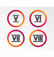 roman numeral icons number five six seven vector image vector image
