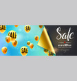 sale special offer banner with bended corner of vector image vector image