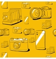 Seamless background with cameras vector image