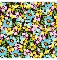 Seamless pattern with small blue flowers forget vector image vector image