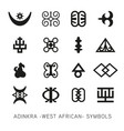 set akan and adinkra west african symbols vector image