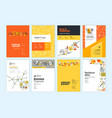 set brochure and report design templates vector image