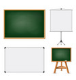 set of blank boards for education vector image vector image