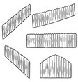 set of fence vector image vector image