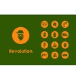 Set of revolution simple icons vector image vector image