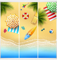 set of three tropical beach vector image vector image