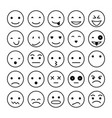 smile icons isolated on white vector image vector image