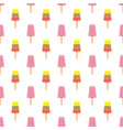summer seamless pattern with colorful ice cream on vector image