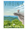 virginia travel poster appalachian trail vector image vector image